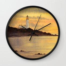 Turnberry Lighthouse Scotland Sunset Wall Clock