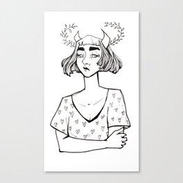 Little Hearts Demon Canvas Print