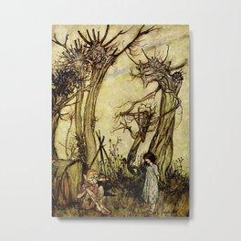 """The Man in the Wilderness"" by Arthur Rackham Metal Print"