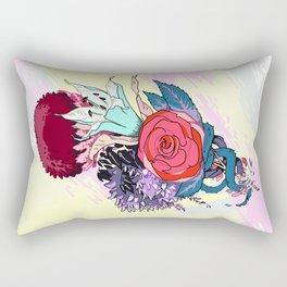 Chrysanth Wisteria & Lily - & Rose  Rectangular Pillow