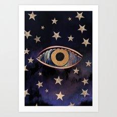Open your third eye Art Print
