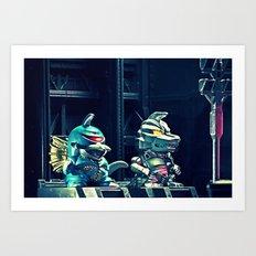 BEST OF FRIENDS Art Print