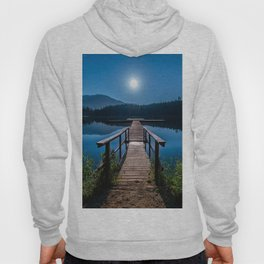 Bright Night Sky at British Columbia Hoody