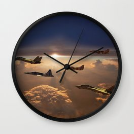 The Flight Home Wall Clock