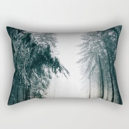 The Winter Trail (Color) Rectangular Pillow