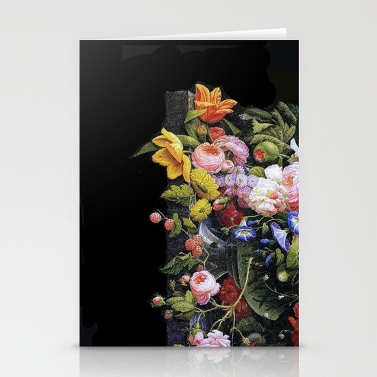 Victorian Flowers&Fruits Stationery Cards