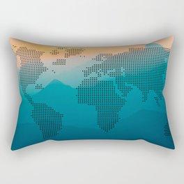 World map mountain Rectangular Pillow