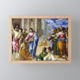El Greco Christ Healing the Blind Framed Mini Art Print