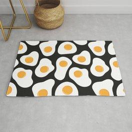 Cracking Fried Egg Pattern Rug