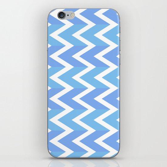 Blue Chevron Pattern iPhone & iPod Skin