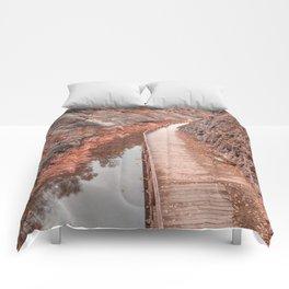Paw Paw Boardwalk Trail - Pastel Fantasy Comforters