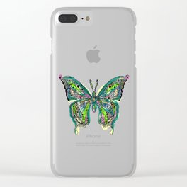 Fly Butterfly Clear iPhone Case