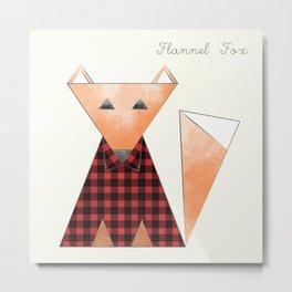 Flannel Fox Metal Print