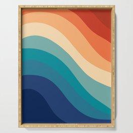 Retro Summer Wave #1 #minimal #decor #art #society6 Serving Tray