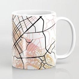 Manila Philippines Watercolor Street Map Color Coffee Mug