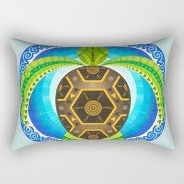 Geometric turtle Rectangular Pillow