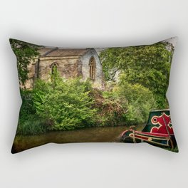 Church By The Oxford Canal Rectangular Pillow