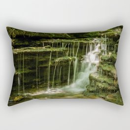 Nature Landscape Photo Pixley Falls 1 Waterfall in the Forest Summer Rectangular Pillow