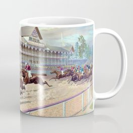 Louis Maurer -The futurity race at Sheepshead Bay - Digital Remastered Edition Coffee Mug