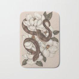 Snake and Magnolias Bath Mat