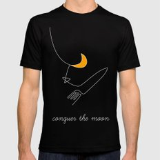 Keep your dreams alive, Conquer The Moon! Black Mens Fitted Tee MEDIUM