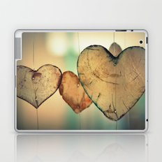Vintage Boho Chic Bokeh Hearts Wind Chimes Laptop & iPad Skin