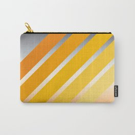 Orange Striped Gradient Carry-All Pouch