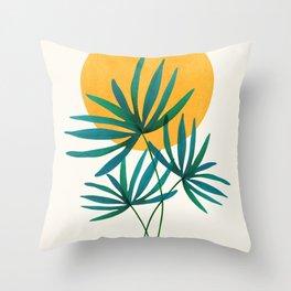 Little Palm + Sunshine Throw Pillow
