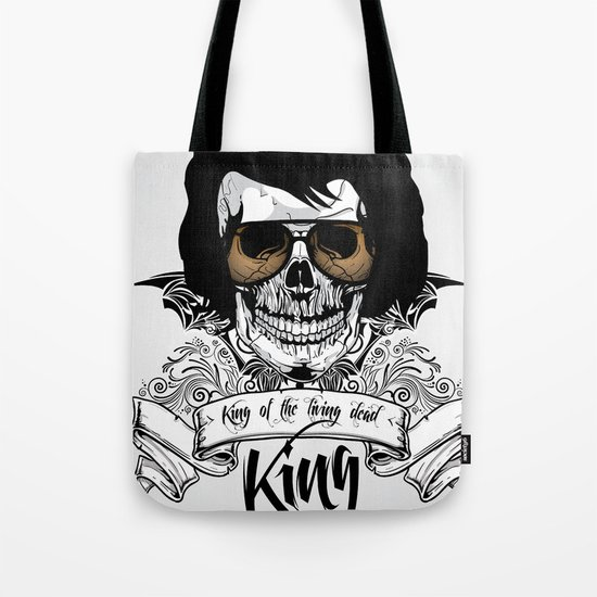 Elvis Presley   The King of the Living Dead Tote Bag