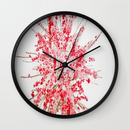 Frozen red Wall Clock