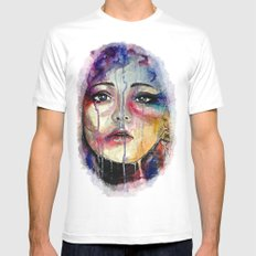 Colourful Tears Mens Fitted Tee MEDIUM White
