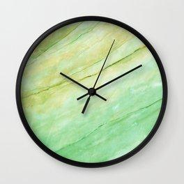 Light green marble Wall Clock