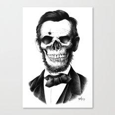 Lincoln Skull Canvas Print