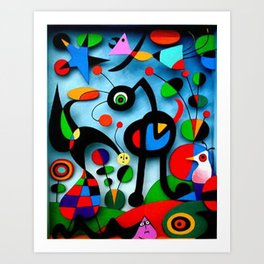 The Garden by Miro Art Print
