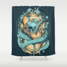 The Diver Shower Curtain