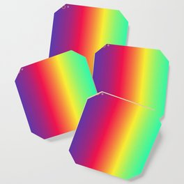 rainbow abstract Coaster