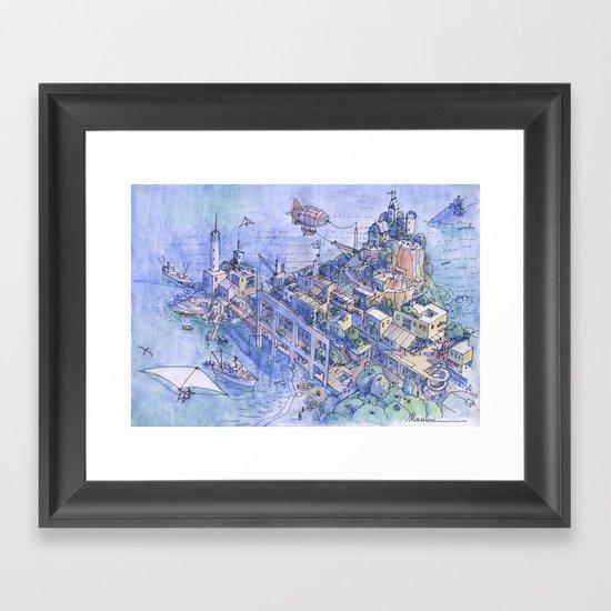 Paesaggio di fantasia 03 Framed Art Print