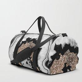 Gray Black White Agate with Gold Glitter #1 #gem #decor #art #society6 Sporttaschen