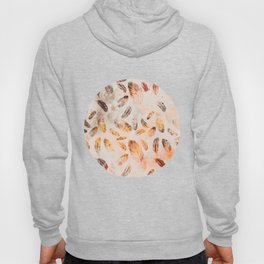 Autumn Feathers watercolor pattern Hoody