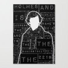 Sherlock BBC: Type Canvas Print