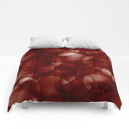 Dark intersecting burgundy translucent circles in bright colors with a brick glow. Comforters