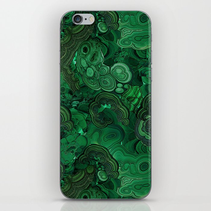 malachite iPhone Skin