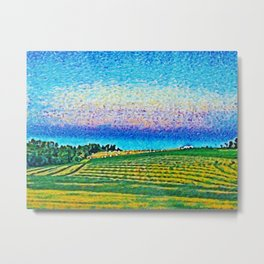 Twilight over the Scandinavian Farm - Norway Metal Print