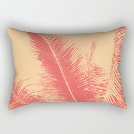 Mango Coral Tropical Palma Rectangular Pillow