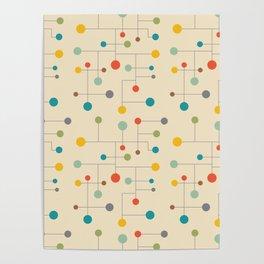 Mid-Century Dots Pattern Poster