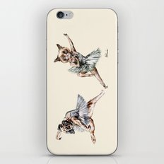 Hipster Ballerinas - Dog Cat Dancers iPhone & iPod Skin