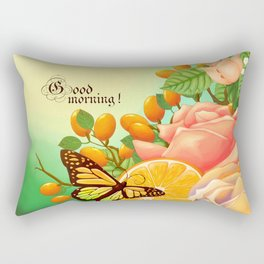 Full Bloom | Butterfly loves oranges Rectangular Pillow