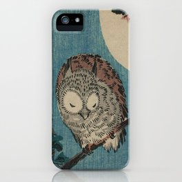 Vintage Japanese Owl iPhone Case