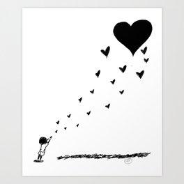 Sending My Love Art Print