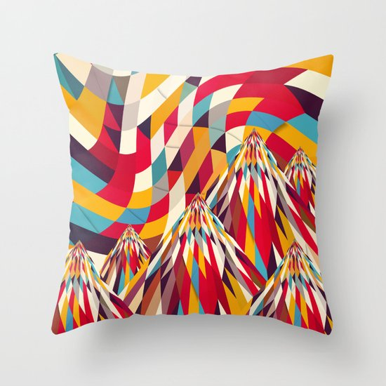 Colorful Mountains Throw Pillow